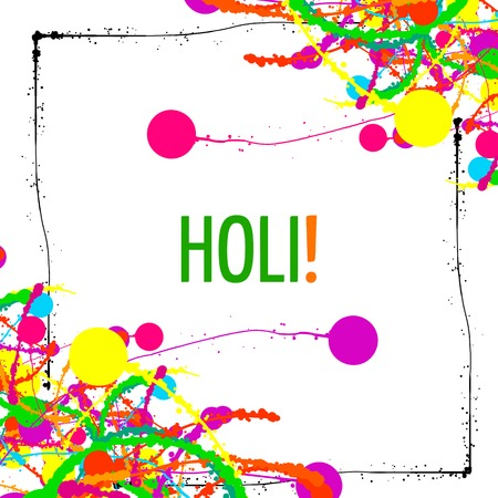 pichkari: Holi Background, Indian Festival of Colors. Bright splashes