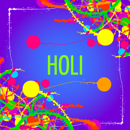 Holi Background, Indian Festival of Colors. Bright splashes