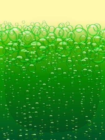 Green beer texture. Happy St Patricks Day. Vector background design element Illustration
