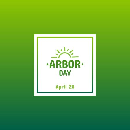 Arbor Day, card or banner template.