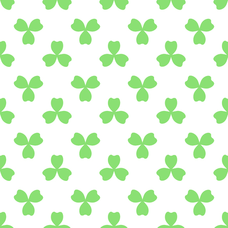 leafed: Green clover with three leaves. St Patricks Day seamless pattern. tileable design element. Saint Patrick used three-leafed clover to teach the Trinity