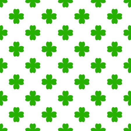 st  patrick's day: Green clover with four leaves. St Patricks Day seamless pattern. tileable design element