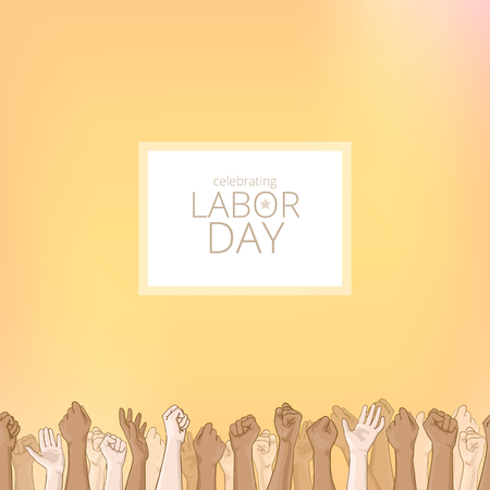 Labor day background. Card with seamless border Stock Photo