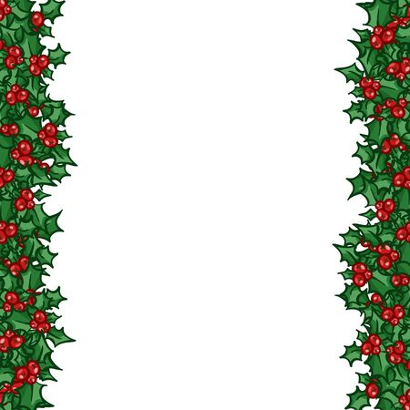 side border: Holly with berry side border