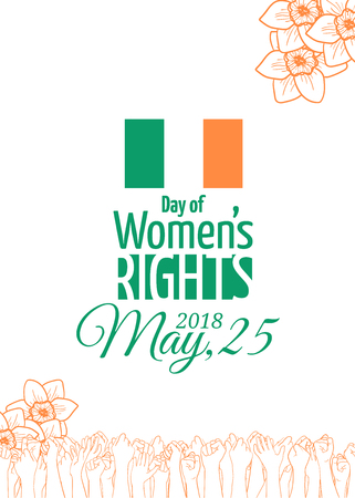 Abortion rights in the Republic of Ireland. May 25, 2018. Repeal of the 8th amendment. Raised hands of voting people