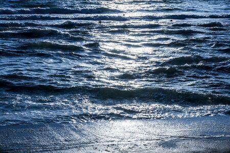 teh: Waves in teh Sea Stock Photo