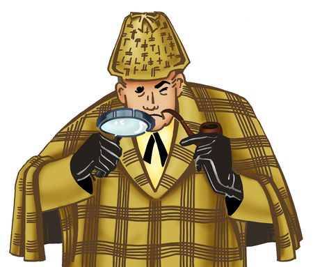 Illustration of detective Sherlock Holmes.