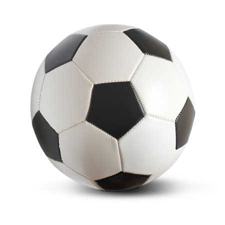 Football isolated over a white background Archivio Fotografico