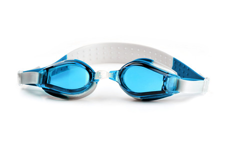 protecting spectacles: Swim goggles - or swim glasses - isolated on a white background