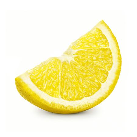 Lemon slice isolated on a white background. Archivio Fotografico