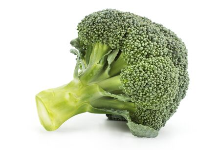 brocoli: Fresh broccoli close up isolated on a white background.