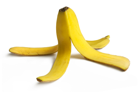 Banana peel booby trap to make someone slip and fall.