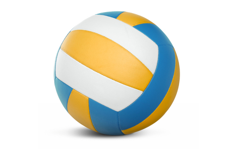 curve: Volleyball isolated on a white background. Stock Photo