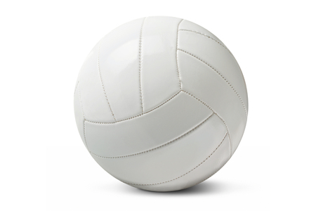 curve: White isolated volleyball iover a white background.