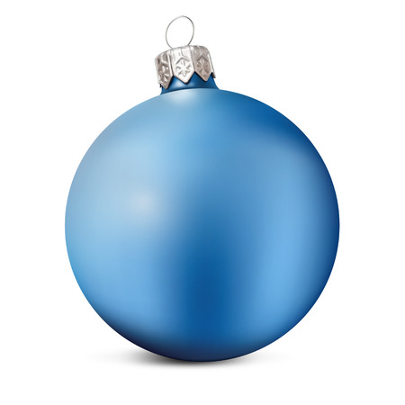Christmas Ball isolated over a white background. Archivio Fotografico