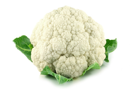 Cauliflower vegetable isolated over a white background.