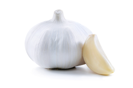 Garlic isolated over a white background.
