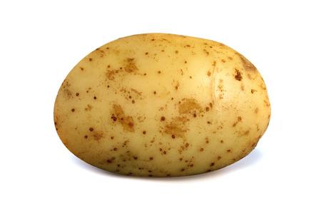Lonely potato isolated over a white background. Archivio Fotografico