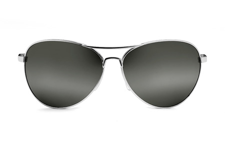 Pair of retro sunglasses isolated over a white background.