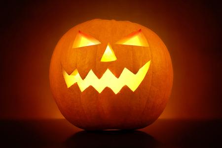 Halloween pumkin carved face Archivio Fotografico