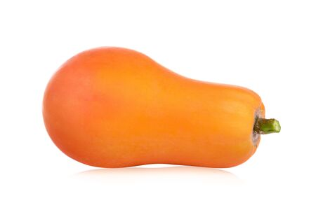 Single squash or pumpkin, isolated over a white background.