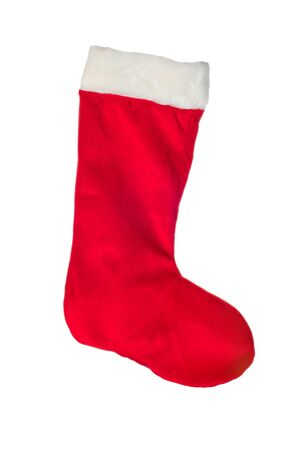 Christmas stocking isolated on a white background