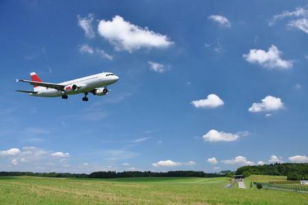 Aircraft at landing photo