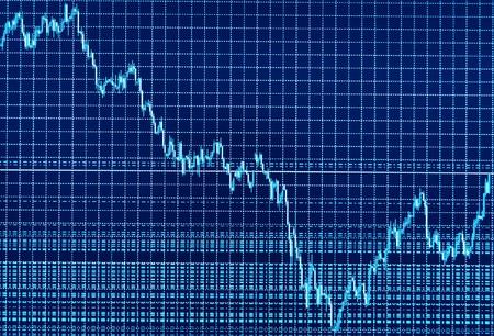 Stock diagram on the screen photo