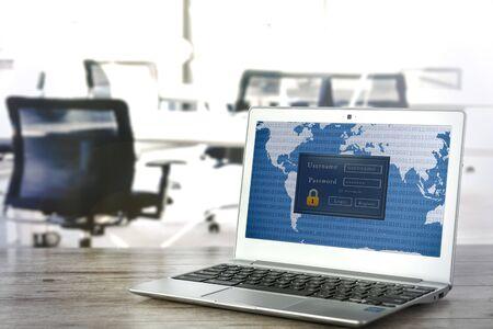 Access login by laptop in openspace office