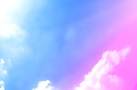 Nubes y cielo con colores pastel Color dulce con hermosa naturaleza