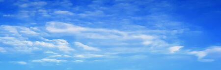 Blue sky and bright colors with white clouds, beautiful natural background