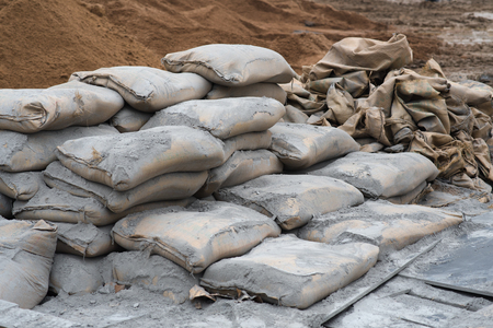 cement at  construction site