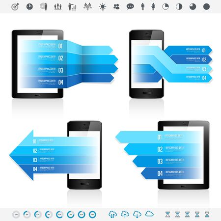 electronic devices: Electronic devices infographics
