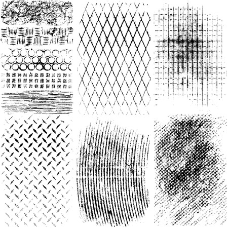 grained: Vector Grunge Metal Textures
