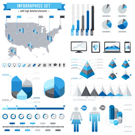 A comprehensive Vector Template set for infographics.