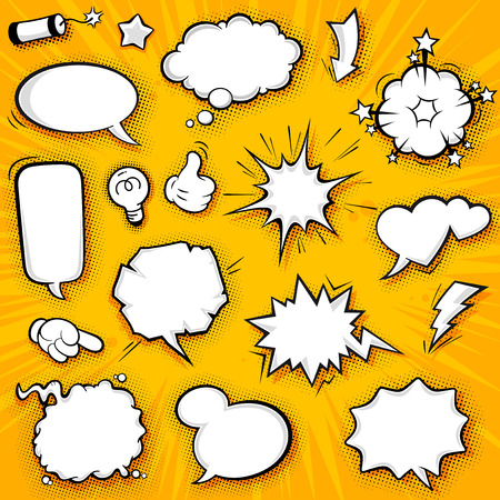 A collection of funny baloons for comic speeches and also sound effects.