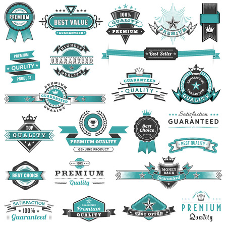 A big set of high detail Design Promotional labels and elements