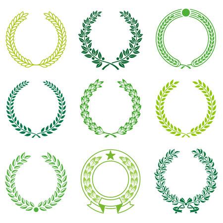 Eine Reihe von Nine High Detail Ceremonial Frames. Vektorgrafik
