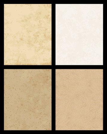 cardboard texture: A set of 4 high detail Paper and cardboard texture.