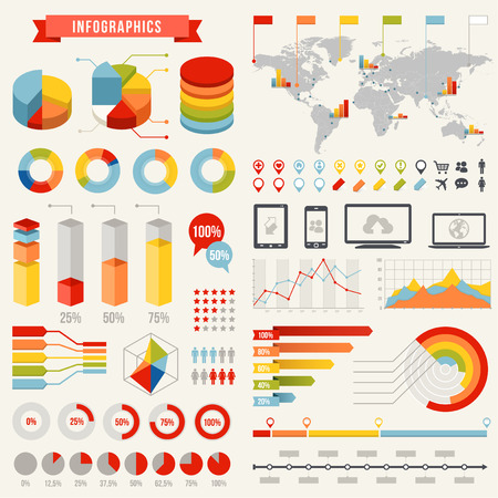 a full vector hi quality Template set for infographics