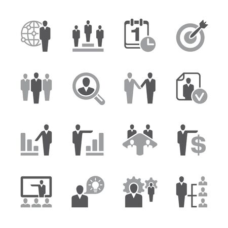 related: A set of 16 human resources related icons.