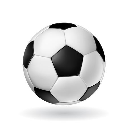 balon soccer: Alto detalle vector de la bola de fútbol.