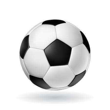 ballon foot: Haute D�tail balle vecteur football.