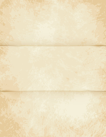 single color image: A very high detailed Full vector design for a folded old paper - parchment with light colors.