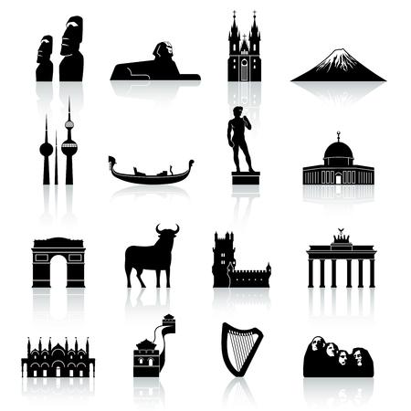 Een hoge kwaliteit en detail collectie van beroemde monumenten en cultuur Icons over de hele wereld.
