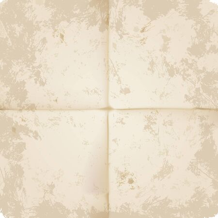 unhygienic: A very high detailed Full vector design for a folded old paper - parchment