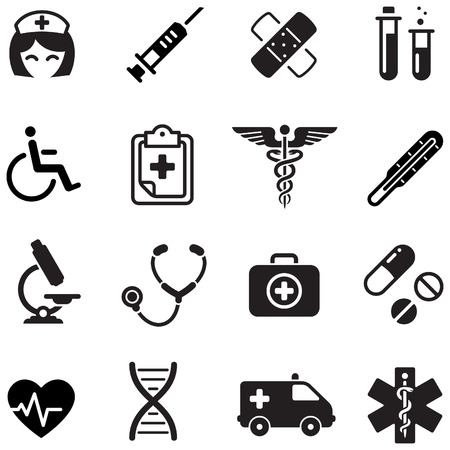 icon hospital: A cute icon set with lots of healthcare themed icons Illustration