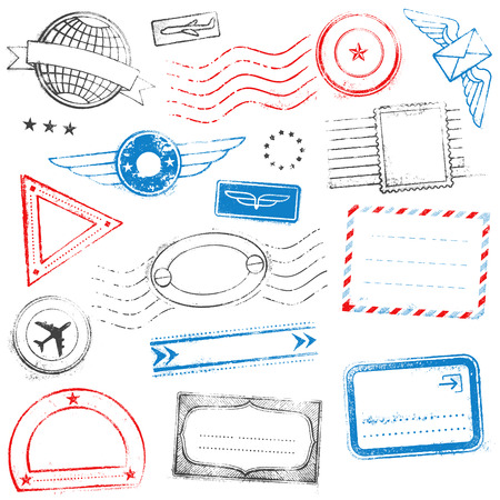 stamp passport: A collection of mixed high quality Passport Stamps Designs.