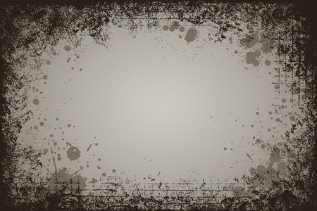grunge frame: A high detail, dark looking, horizontal rectangle shaped grunge frame.
