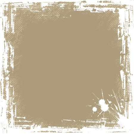 高詳細、アンティークを探して、正方形の形をしたグランジ フレーム。  イラスト・ベクター素材